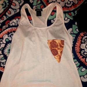 JUNIORS Slice of Pizza Tank Top